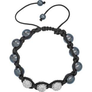 3 White Crystal and Hematite Bracelet - WAS £14.99 - NOW £3.99! @ Argos