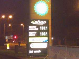 Petrol 101.9 and diesel 108.9 p per litre at BP in Chelmsford