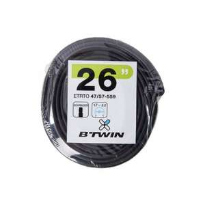 MTB inner tube- Schrader valve- 79p click collect at decathlon