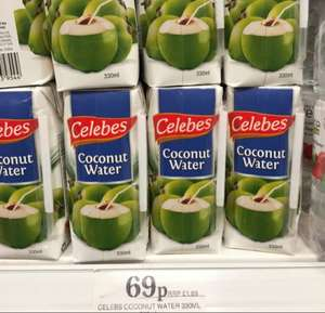 Coconut Water 69p @ Home Bargains 330ml