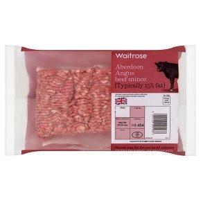 Waitrose Aberdeen Angus beef mince 454g half price £2.39