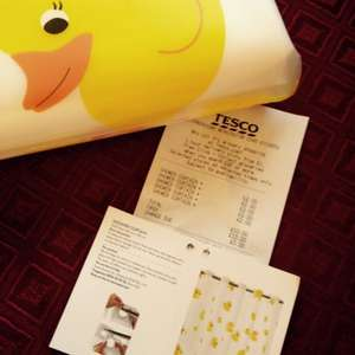 £2.00 duck shower curtain @ Tesco