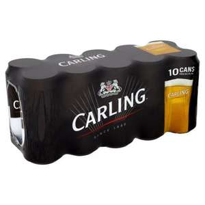 10 cans pack carling lager £4.96 coop