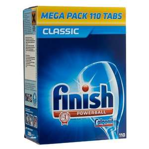 Poundland - spend £3 instore and get 110 Finish dishwasher tabs for £8