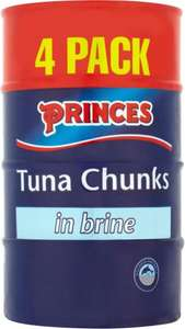 Princes Tuna Chunks Brine/Sunflower Oil/ Spring Water 4 x 160g now £2.49 @ Morrisons