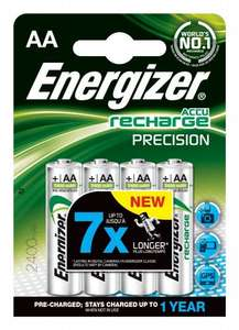 Energizer Rechargeable Precision AA 2400mAh Batteries (Which? Best Buy) - Pack of 4 £10.47 Amazon