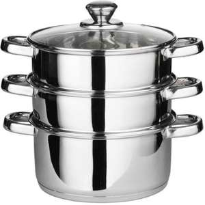 22cm Stainles Steel 3 Tier Steamer Pan Set - £10.95 Delivered! @  direct2publik / eBay Deal