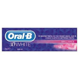 Oral B 3D White 75Ml Toothpaste - from £1.75 at Tesco