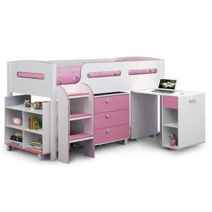 Julian Bowen Kimbo Cabin Bed / mid sleeper (pink) for £284.99 today only! @ Wayfair