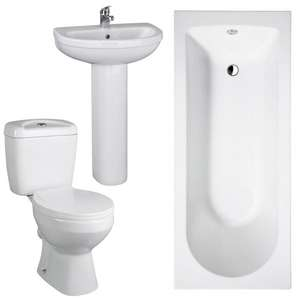 Melbourne 5 Piece Bathroom Suite @ Victorian Plumbing (£142.45 with discount code 5VPSALE) + £29.95 delivery