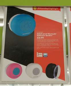Splash proof Bluetooth speaker £8.99 @ Lidl