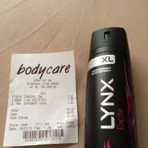 XL LYNX Excite Bodyspray £1.99 @ Bodycare