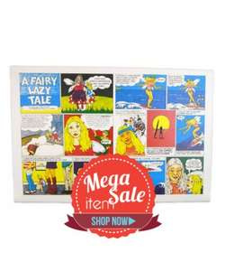 Fairy lazy comic limited edition signed canvas, £6 delivered from £45 @ Plainlazy.com
