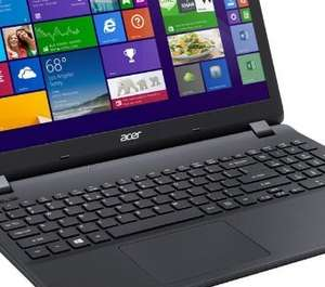 "Acer Aspire ES1-512, 15.6"" Laptop, Intel Celeron, 4GB RAM, 500GB - Black £179 @ Tesco"