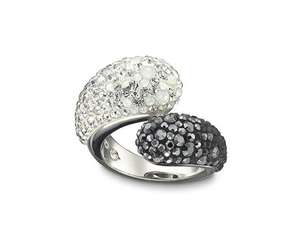 Swarovski Louise Black and White Ring £59.50 reduced from £119.00
