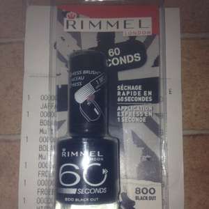 Rimmel london 60 second nail varnish only £1 in discount UK (gravesend) - various other colours available too