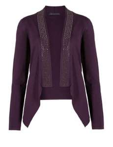 Dark Purple Embellished Cardigan - £3.99 at M&S (free click & collect)