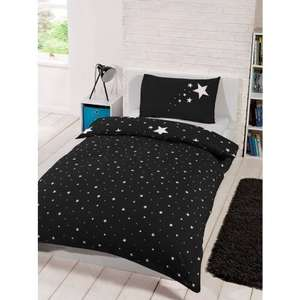 Glow in the Dark Single Duvet Set - Black or Pink £8.99 instore B&M Bargains