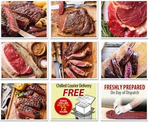 10 x 21 Day Matured 6-7oz Grass Fed Rump Steaks £29.99 @ westingourmet
