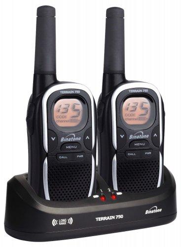 Manufacturer refurbished Binatone Terrain 750 Twin 2-Way Radio Walkie Talkies £21.99 @ 3Monkeys / Ebay