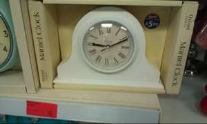 Wooden mantel clock from B&M just 10p!