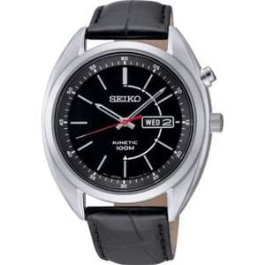 Seiko Men's Kinetic Black Dial Black Strap Watch. £89.99 reduced from £299.99 at  Argos