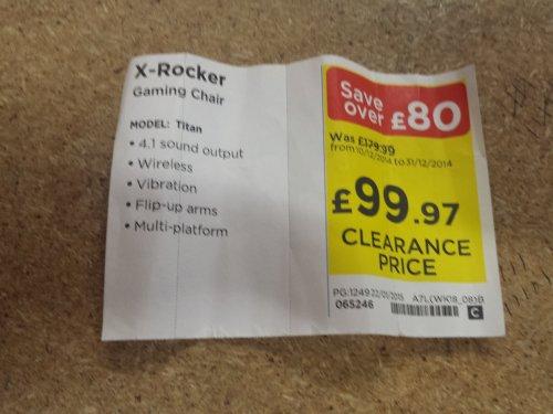 X - rocker titan £99.97 @ Currys