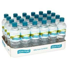 Aqua Pura Still Natural Mineral Water 24pack 500ml for £3.50 in asda