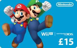 £15 Nintendo eGift Card for £12 using Voucher Code @ Giftcloud