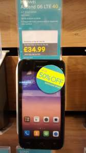 HUAWEI ASCEND Y550 1.2ghz quad core, 4g smartphone (unlocked) from EE. Half price at £35 + £20 EE Top-up.