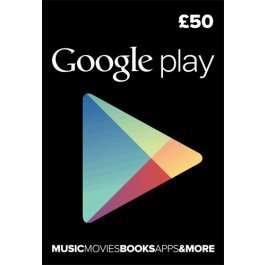 Google play £50 Gift card for £41.70 with code @ CDKEYS