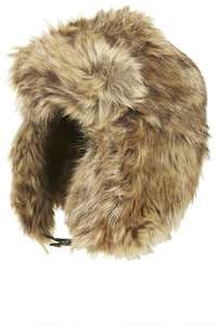 """I've got a cat with no pulse here!"" Faux Fur Trapper hat was £26 now £3 Topshop free std delivery or C+C"