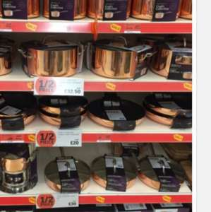 Sainsburys Copper 3 Pan Set Reduced to £36! @ Sainsburys