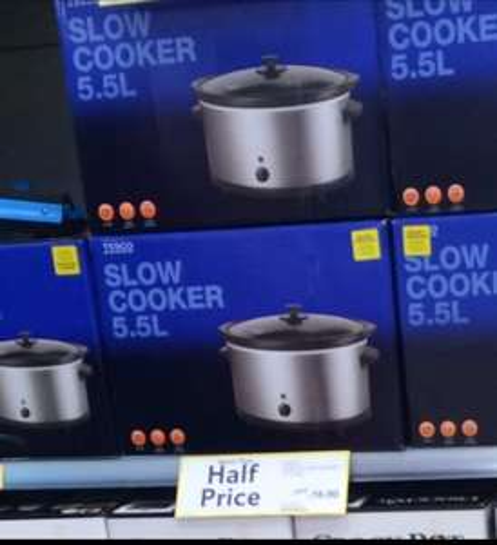TESCO SLOW COOKER 5.5 LITRE  HALF PRICE £16 online & Instore