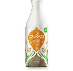 Pukka Organic Aloe Vera Juice ,1 Litre only £13.30. 1/3 off usual price. TCB @10.5% available