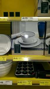 12pc dining set. white with blue rim. reduced from £50 to £12.50 instore @ Tesco