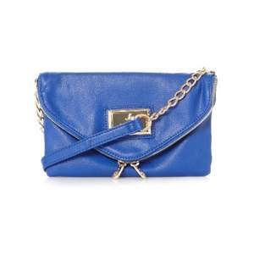 LIPSY Blue Flapover Envelope Bag £8.40, 70% OFF, Free C&C @ Debenhams