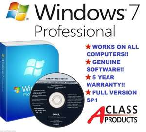 Windows 7 Professional OEM 64 or 32bit £29.99 - (plus should be eligible for the free windows 10 upgrade later this year) - aclass-products eBay.co.uk
