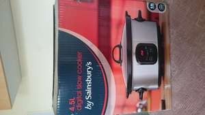 4.5L Digital Slow Cooker@ Sainsbury was £29.99 now £14.99