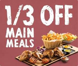 Harvester 33% off ALL main meals with voucher (meals from £3.33 with unlimited salad)