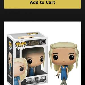 Game of Thrones Pop! Figurines 7.64 @ HBO