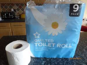 Superdrug Own Brand 9 Toilet Rolls £2 buy 2 get 2nd Half price