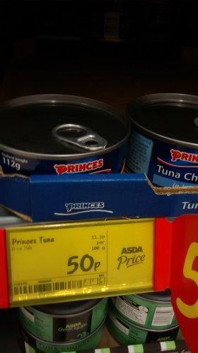 Princes Sandwich tuna chunks in brine 112g 50p @ Asda