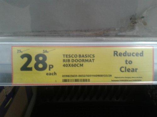 Basic Doormat 28p @ Tesco Instore