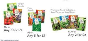 LIDL Seeds - Fruit, Vegetable, Flower or Herbs - Multibuy - 20p - 40p - £1 per pkt - From Thurs 29th Jan