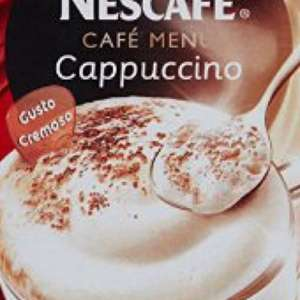 Nescafe cappuccino sachets, 8 for just £1.19 at Aldi.