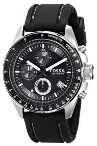 FOSSIL CH2573 Gents 'Decker' Black Rubber Strap Black Dial Chronograph Watch £47.53 @ amazon 2 Years Warranty