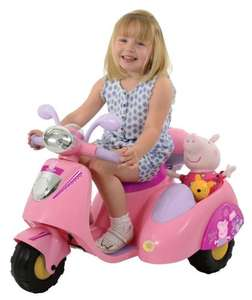Argos Peppa Pig 6V Ride On Bike with Side Car HALF PRICE