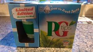PG Tips 160 Tea Bags and Ceramic Travel mug. £2.50 @ Farmfoods