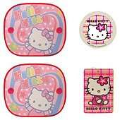 Hello Kitty Car Travel Set Sunshades Tax Disc Holder & Air Freshener £3.50 @ Tesco Direct